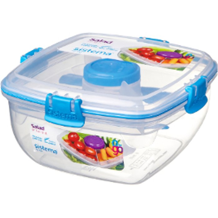 Sistema Salad To Go Container - Blue