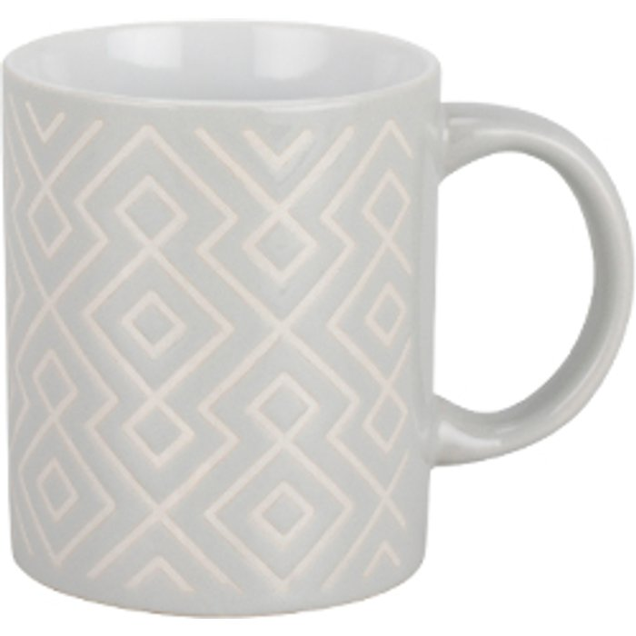 The Range Grey Pattern Stoneware Mug