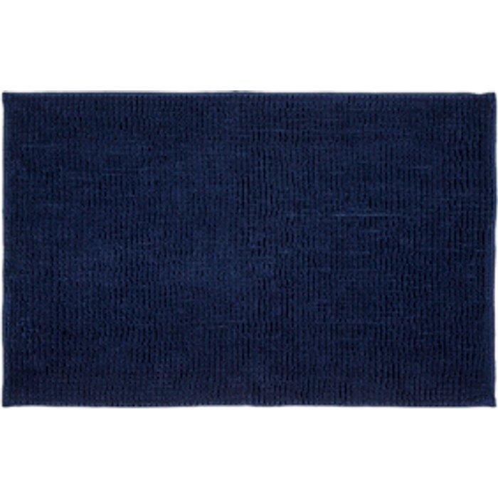 The Range Microchenille Bath Mat - Dark Blue