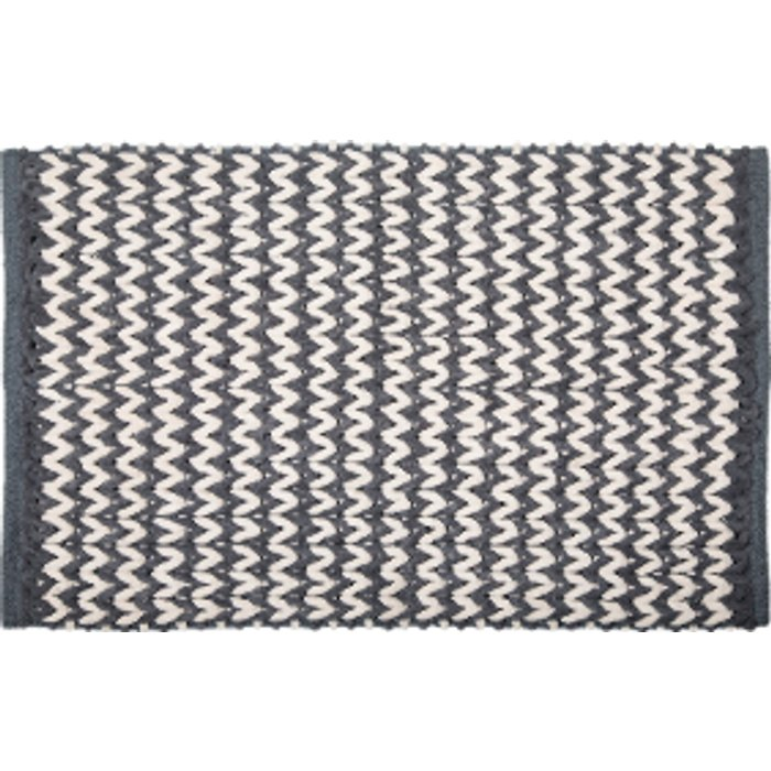 The Range Weave Bath Mat - Charcoal