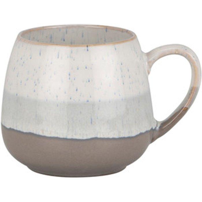The Range Reactive Glaze Belly Mug - Shades of Snow