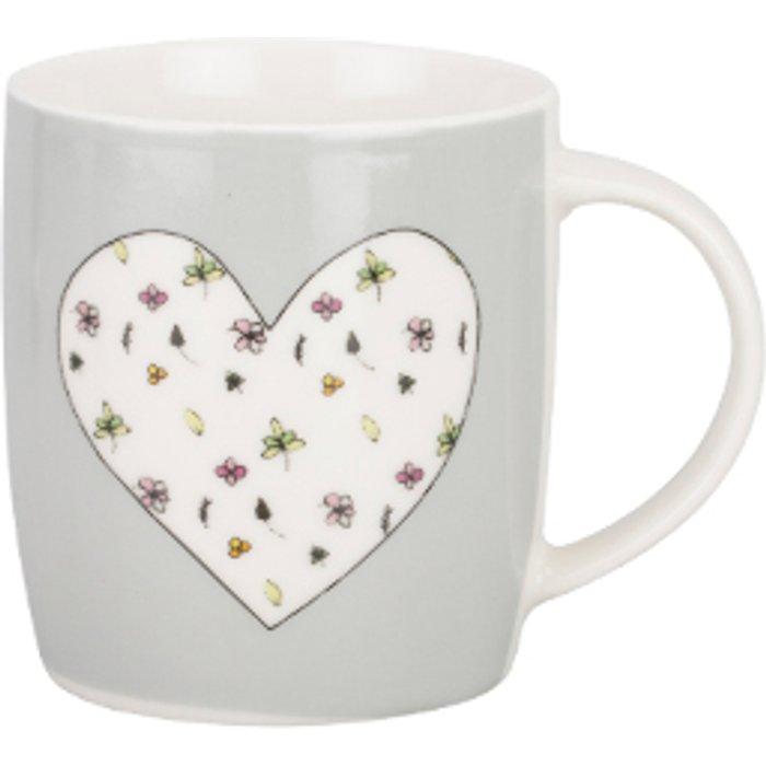 The Range Floral Heart Barrel Mug
