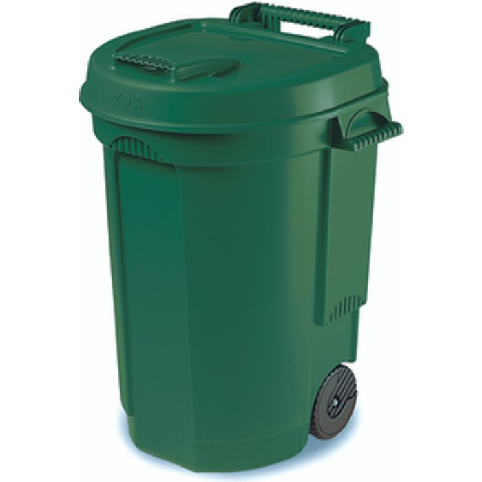 Slingsby Dustbin 110 Litre With Wheels - Green