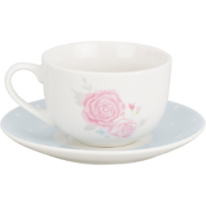 The Range Victoria Rose Cup And Saucer Set