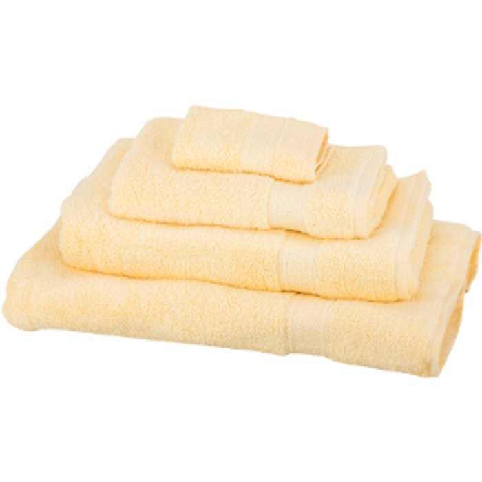The Range Zero Twist Face Cloth - Yellow