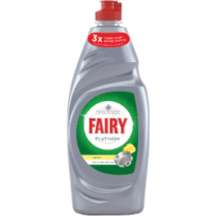 Fairy Fairy Platinum Washing Up Liquid - Lemon / 625ml