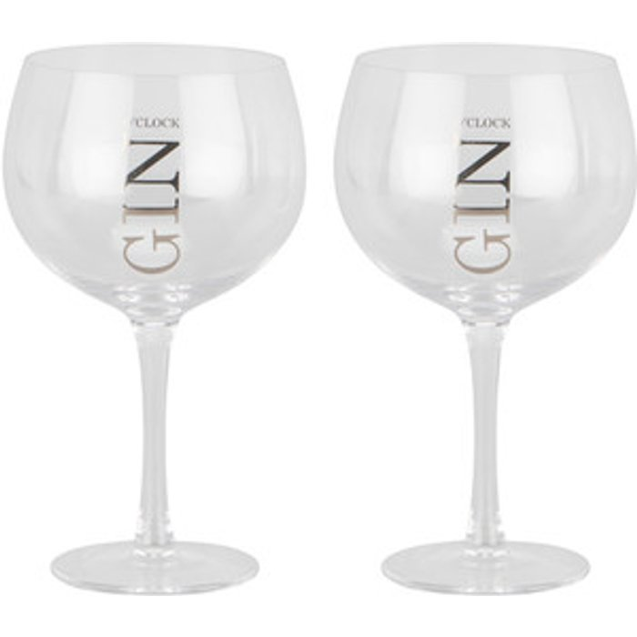 The Range Set Of 2 Gin O'Clock Glasses