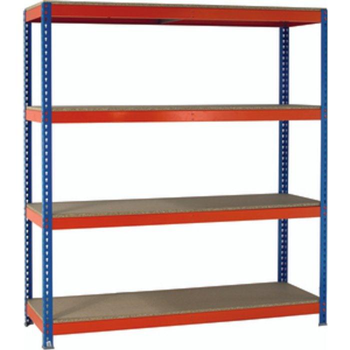Slingsby Heavy Duty Shelving 2000 x 1500 x 450mm - Orange/Blue