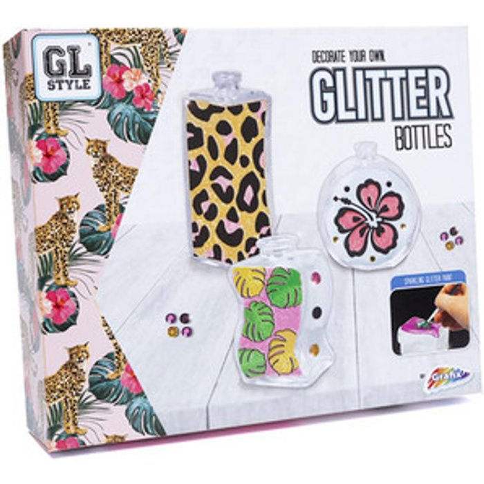GL Style Decorate Your Own Glitter Bottles