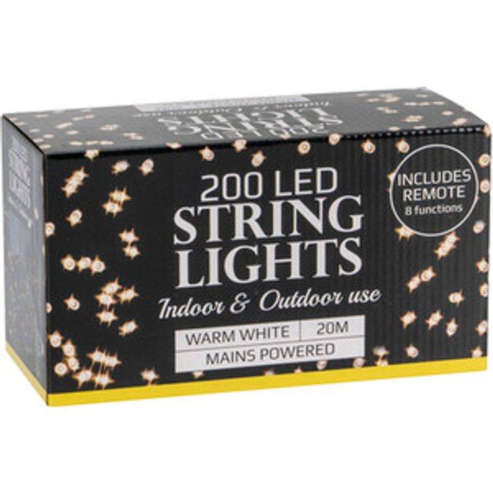 The Range 200 LED Indoor & Outdoor Light String - Warm White