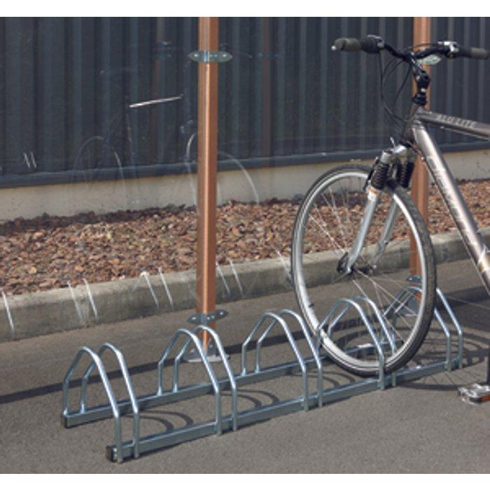 Slingsby 5 Bike Cycle Rack  - Silver
