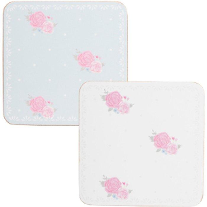 The Range Set of Four Victoria Rose Coasters