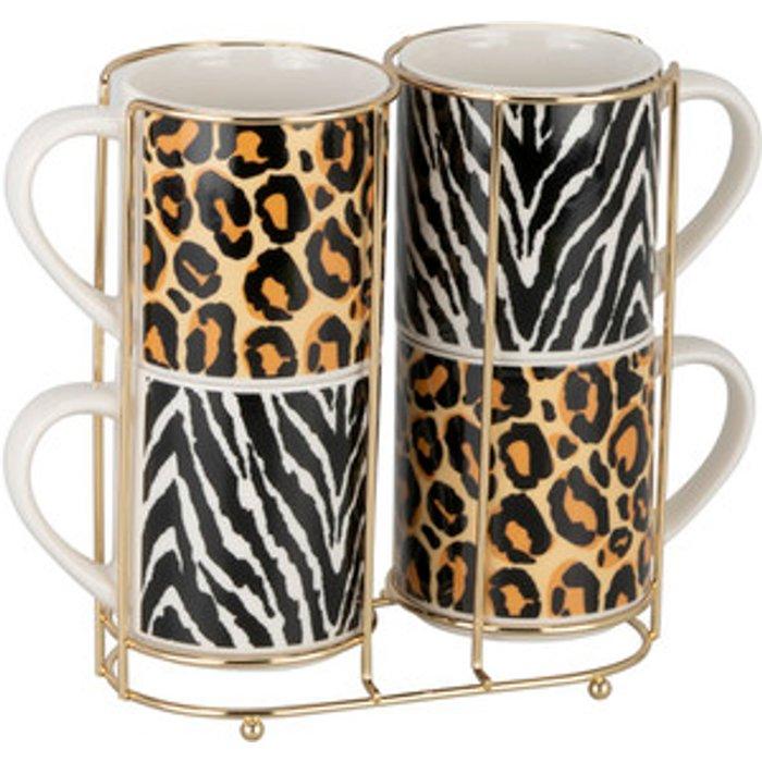 The Range Animal Print Stacking Mugs