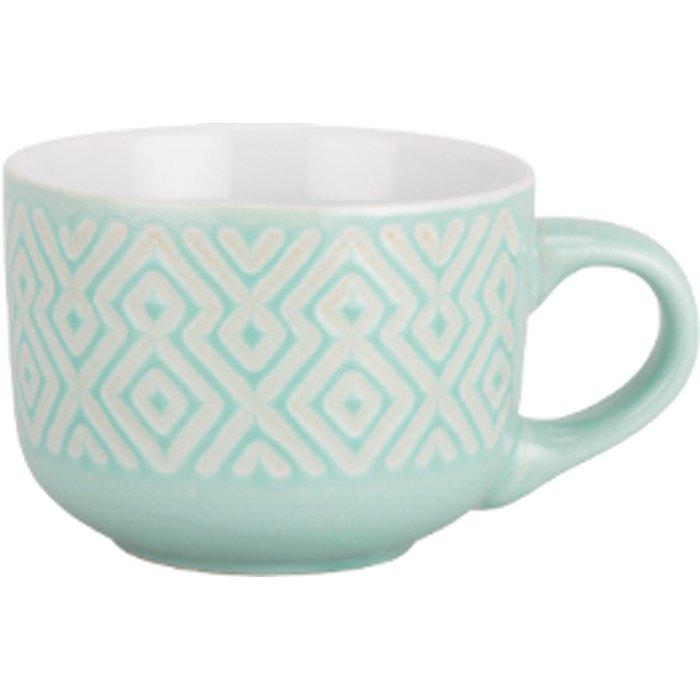The Range Large Stoneware Embossed Mug