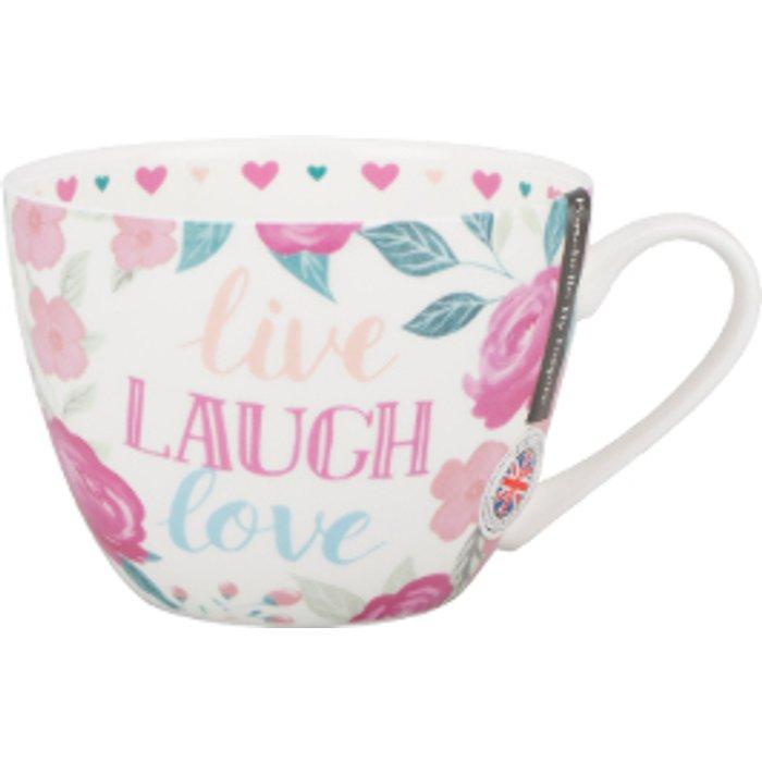 The Range Live Laugh Love Floral Wilmslow Mug