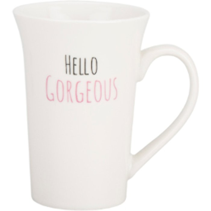 The Range Tall Hello Gorgeous Latte Mug