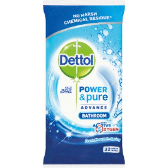Dettol Dettol Power Pure Bathroom Wipes