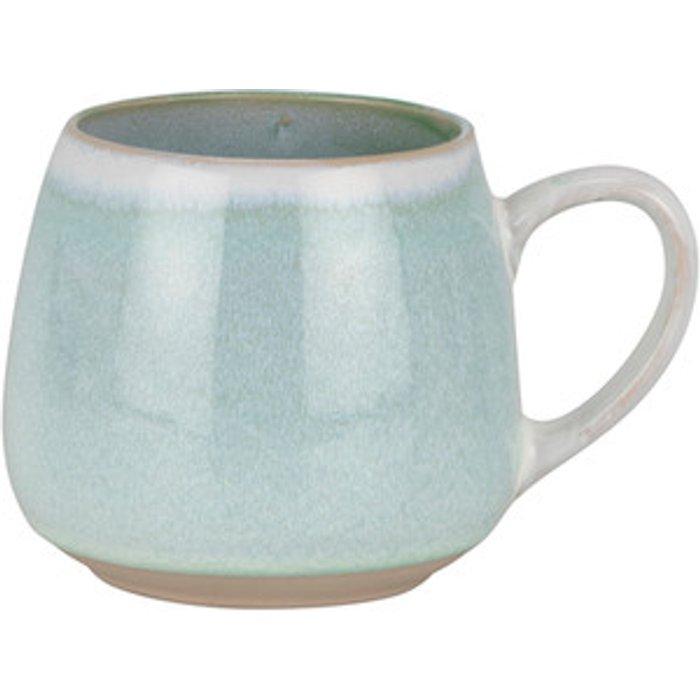 The Range Reactive Glaze Belly Mug - Powdered Turquoise