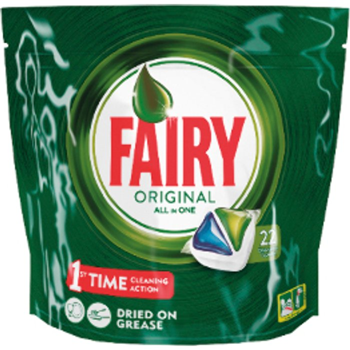 Fairy Fairy All-In-One Dishwasher Tablets  - Original / 22