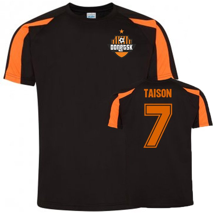 UKSoccershop Taison Donetsk Sports Training Jersey (Black)