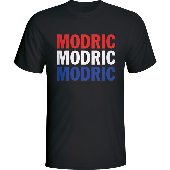Gildan Luka Modric Croatia Player Flag T-shirt (black)
