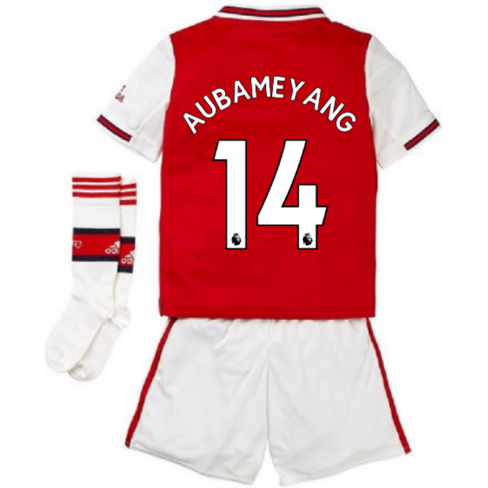 Adidas 2019-2020 Arsenal Adidas Home Little Boys Mini Kit (AUBAMEYANG 14)