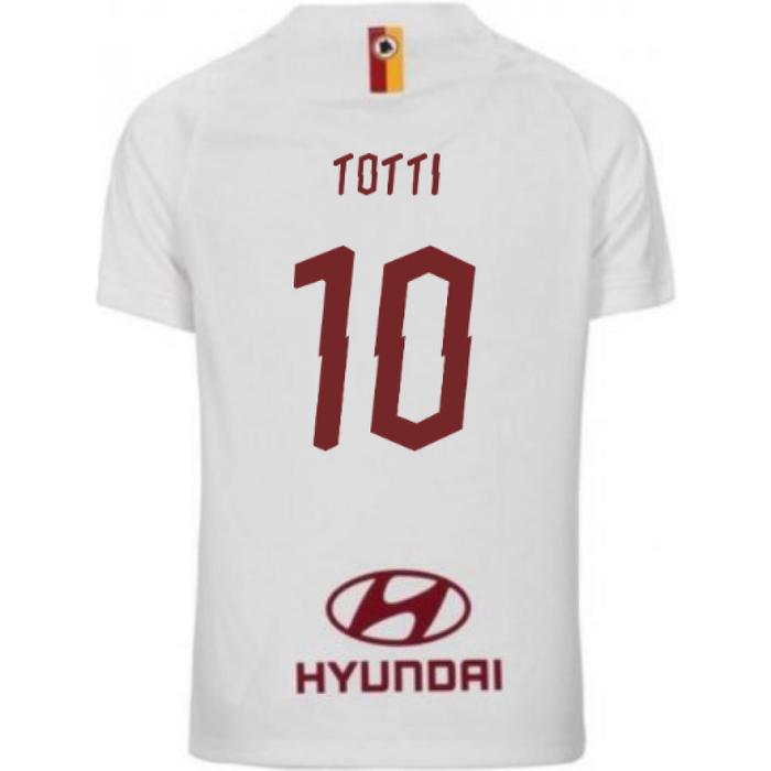 Nike 2019-2020 AS Roma Away Nike Little Boys Mini Kit (TOTTI 10)
