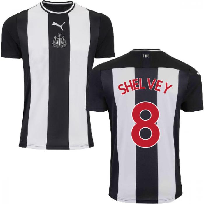 Puma 2019-2020 Newcastle Home Football Shirt (Kids) (SHELVEY 8)