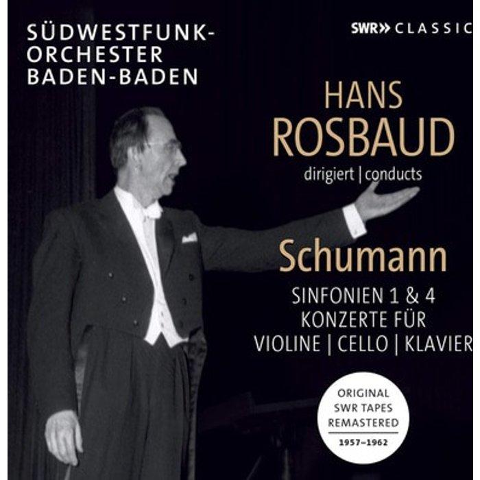 SWR CLASSIC Rosbaud Conducts Schumann [Südwestfunkorchester Baden-Baden Pierre Fournier Henryk Szeryng Annie Fischer Hans Rosbaud] [Swr Classic: SWR19085CD]