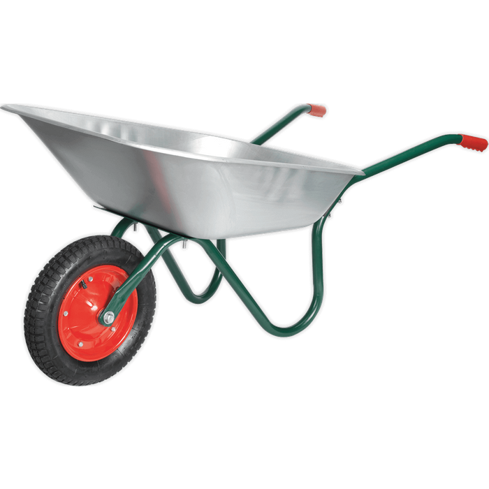 Sealey Sealey WB65 Wheelbarrow 65ltr Galvanized