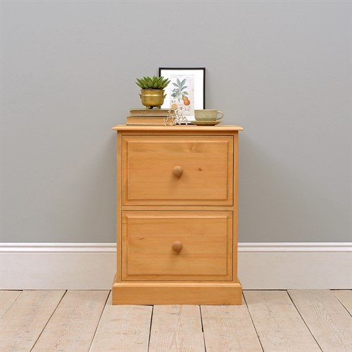 Photo of Dorchester pine 2 drawer filing cabinet