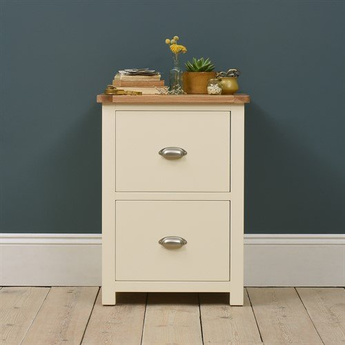 Photo of Sussex painted 2 drawer filing cabinet