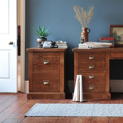 Photo of Abington pine 2 drawer filing cabinet