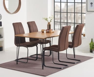 Photo of Kalmar 150cm dining table with liza fabric dining chairs