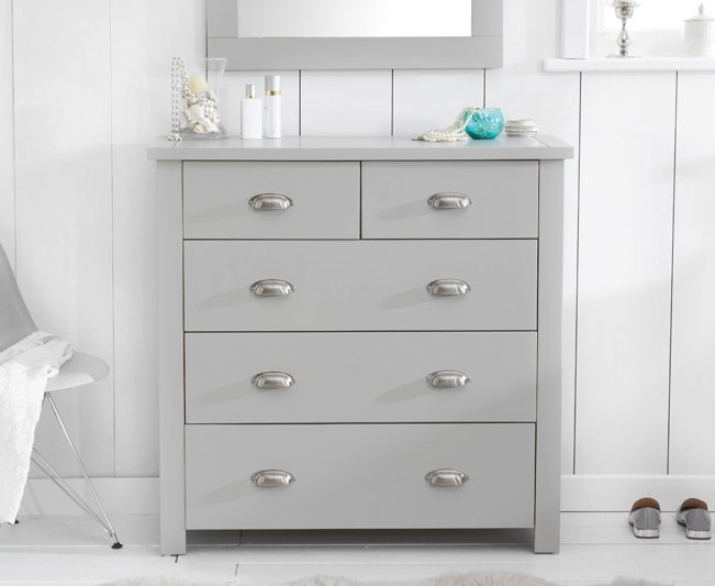 Photo of Somerset grey 2 over 3 drawer chest