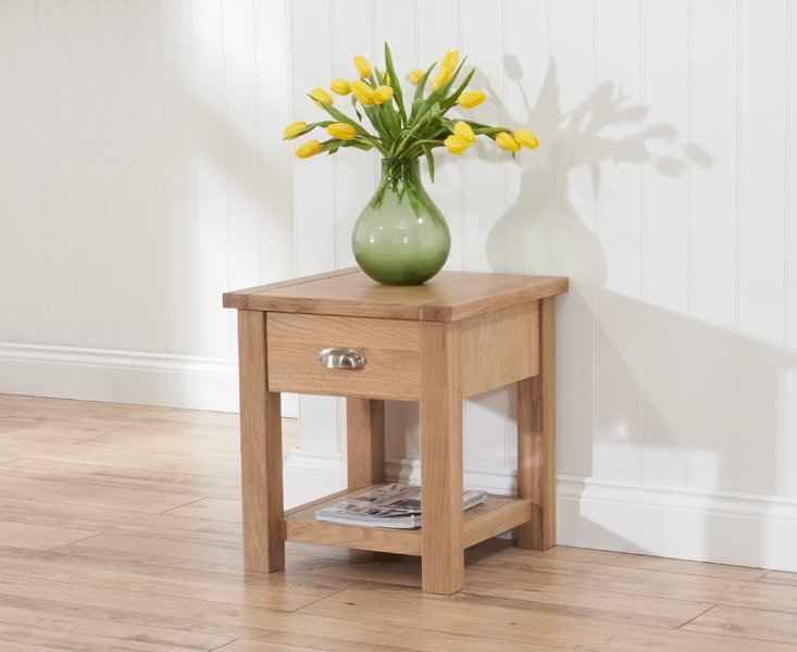 Photo of Somerset oak lamp table