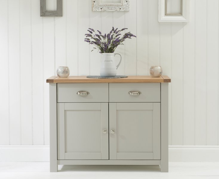 Photo of Somerset oak and grey 2 door 2 drawer sideboard