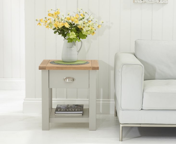Photo of Somerset oak and grey side table
