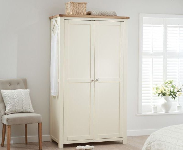 Photo of Somerset oak and cream two door wardrobe