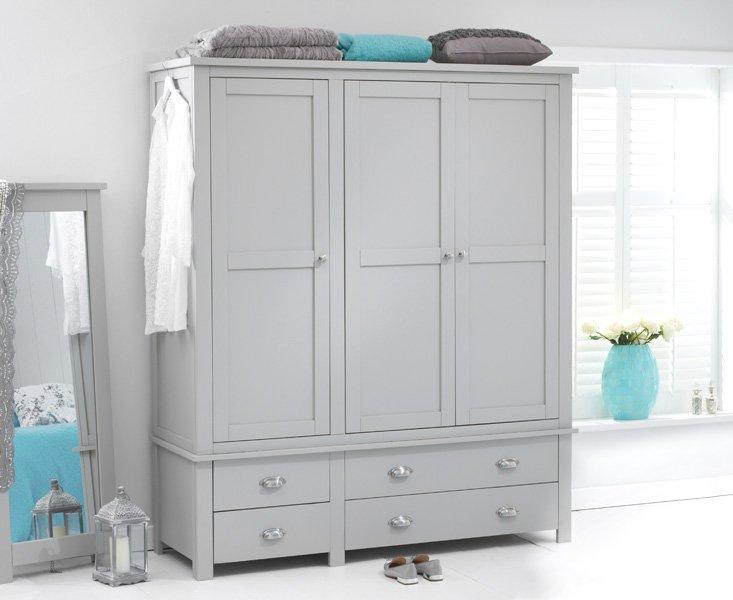 Photo of Somerset grey 3 door 4 drawer wardrobe