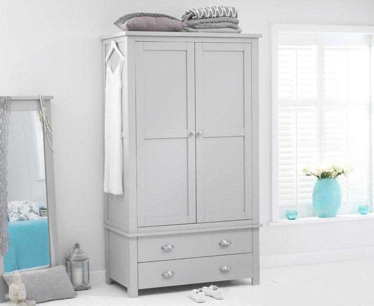 Photo of Somerset grey two door two drawer wardrobe