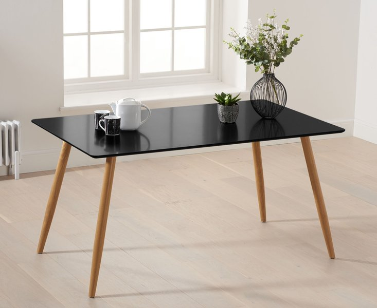 Photo of Maida vale 130cm matt black dining table