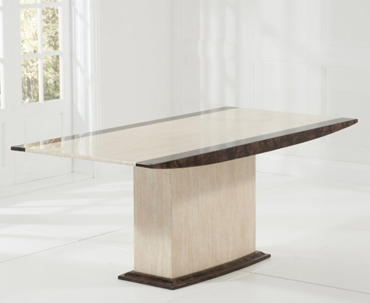 Photo of Assisi 180cm cream pedestal marble dining table