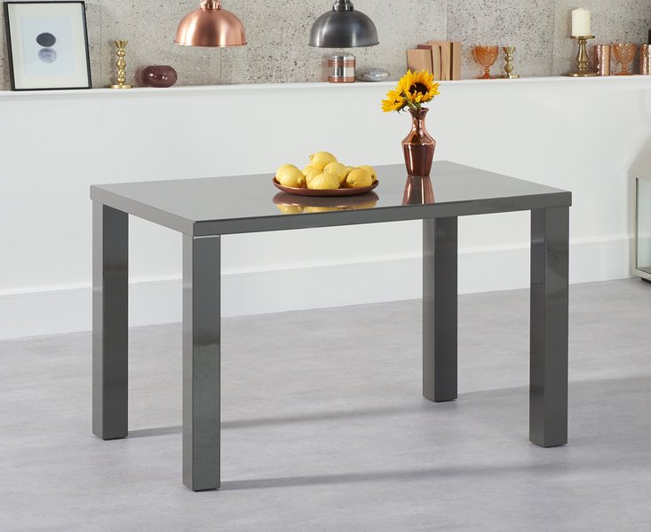 Photo of Atlanta 120cm dark grey high gloss dining table