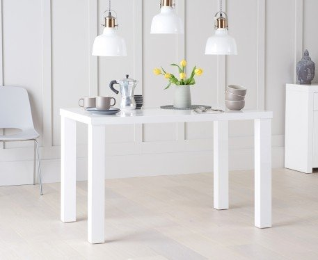 Photo of Atlanta 120cm white high gloss dining table