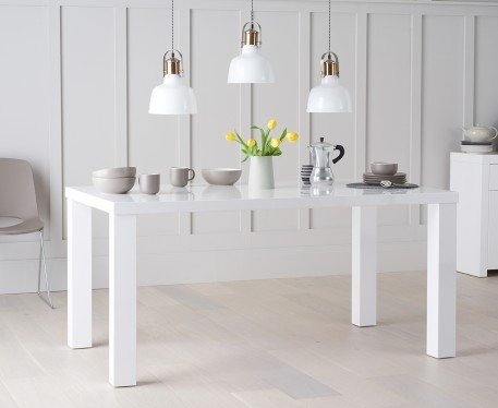 Photo of Atlanta 160cm white high gloss dining table