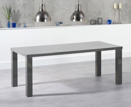 Photo of Atlanta 200cm dark grey high gloss dining table