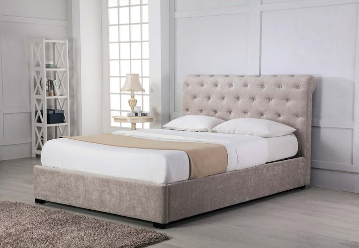 Photo of Balmoral stone low end scroll ottoman double bed