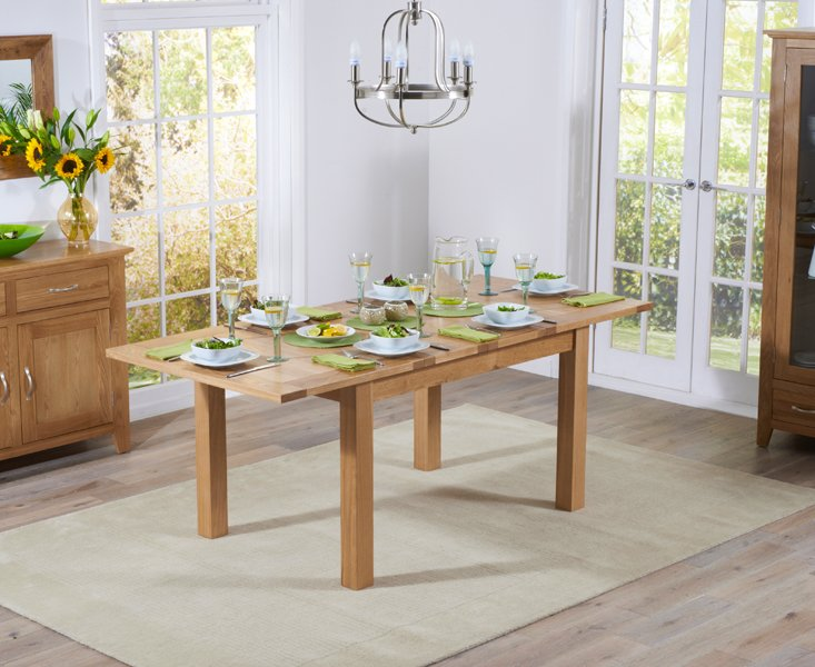 Photo of Cheadle 130cm oak extending dining table
