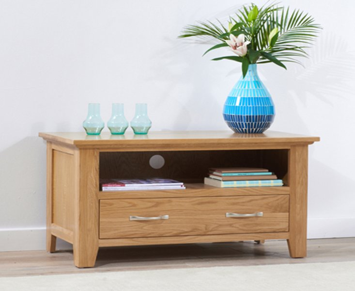 Photo of Cheadle 90cm oak tv unit